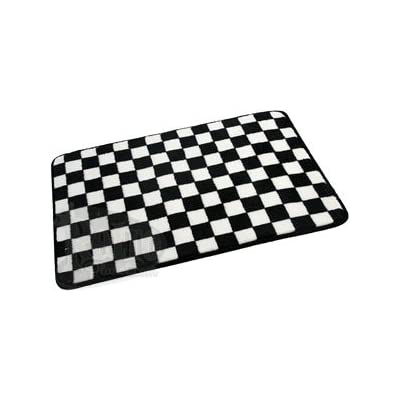 Black white checkered rug rugs sale for Checkered carpet black and white