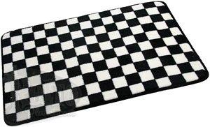 Black White Checkerboard Rugs - CafePress