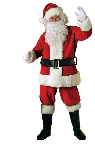 Rubie's Costume 8-Piece Deluxe Velvet Santa Suit With Wig And Beard
