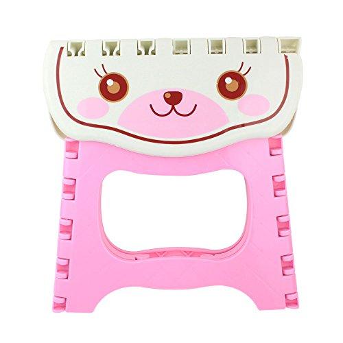 Umiwe(TM) Taburete Plegable de Gato Dibujos Animados para los Niños, Rosa con Umiwe Accesorio