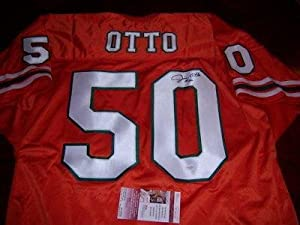 Jim Otto Autographed Uniform - Miami Hurricanes hof Jsa coa - Autographed NFL Jerseys by Sports+Memorabilia