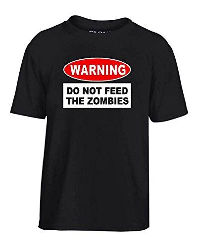 Cotton Island- T-shirt Bambino TZOM0049 warning do not feed the zombies, Taglia 9-11anni