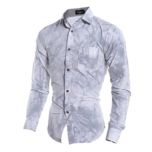 Retrograder Mens Fashion Long Sleeve Casual Dress Shirts S001-06-Gray-XL (Caps Louis Vuitton compare prices)