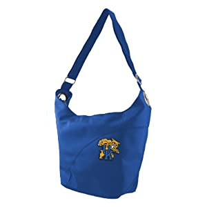 NCAA Kentucky Wildcats Ladies Color Sheen Hobo Purse, Royal by Littlearth
