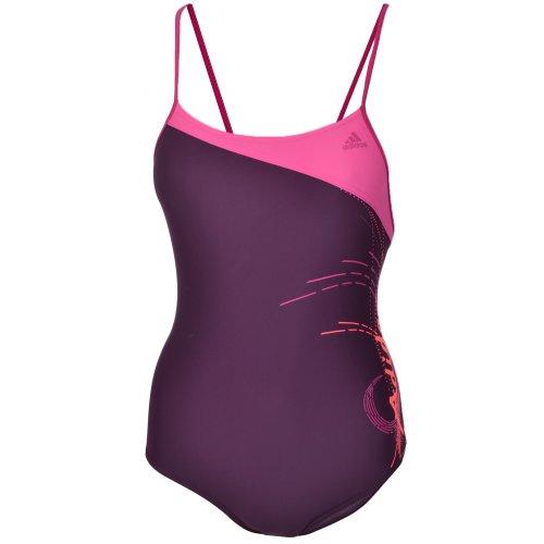 Adidas Girls Swimming Costume - Deep Purple -