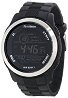 Armitron Men's 40/8267BLK Large Black Resin Strap Stainless-Steel Bezel Chronograph Watch by Armitron