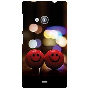 Printland Smileys Back Cover For Nokia Lumia 535