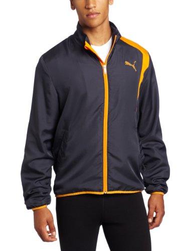 PUMA Puma Men's Woven Track Jacket, Flame Orange, X-Large