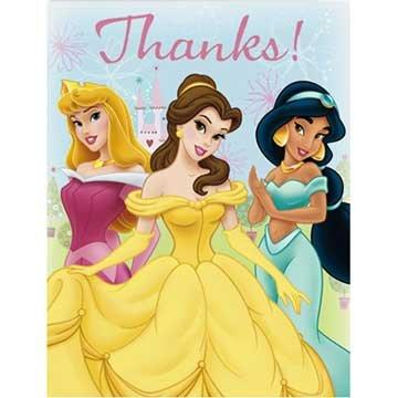 Disney Princess Thank You Notes 8ct