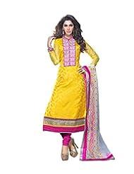 DivyaEmporio Women's Ethnic Salwar Suit Dupatta Unstitched Dress Material (Free Size) - B00V07S5CW