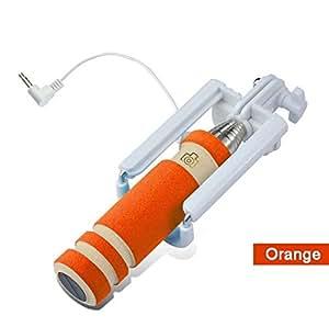 ProElite Mini Selfie Stick for Android & iPhone (Orange)