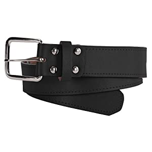 bucks 1 1 2 inch leather baseball belt