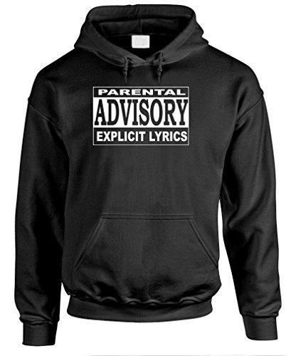 Parental Advisory - Funny Hip Hop Rap Music Pullover Hoodie, Xl, Black