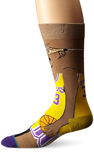 Stance - Calze Kareem NBA Legends Cartoon - Yellow - Giallo, L/XL - 42,5/47,5
