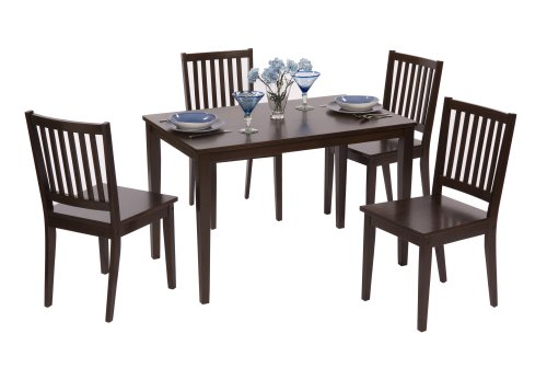 TMS 5 Piece Shaker Dining Set Espresso Milly Azar : 41P0YoaHBAL from sites.google.com size 500 x 336 jpeg 24kB
