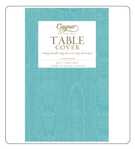 Nice Table Cloth To Use As Tablecloth Or Table Runner, Paper, Nicer Than Vinyl U0026  Plastic, Turquoise, Caspari Reviews