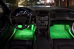 green 12 car interior neon lights two 2 12 inch 30cm cold cathode neon lights that fit. Black Bedroom Furniture Sets. Home Design Ideas