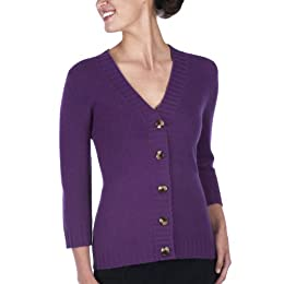 purple button down cardigan