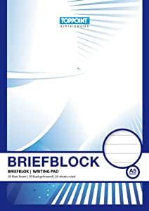 5 Briefblöcke Briefblock liniert DIN A5 Schreibblock