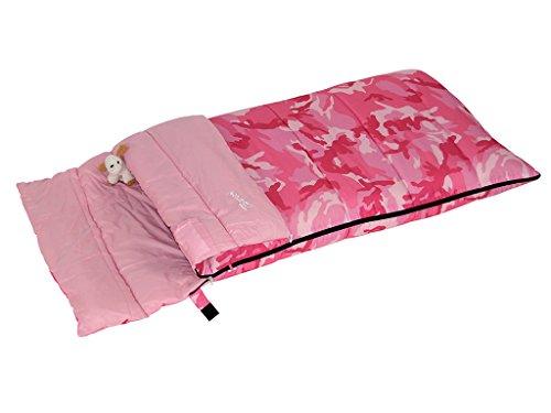 Bertoni Bimbo Junior 150 Camo Pink Sacco a Pelo da Bambino da Campeggio o Casa, Camo Rosa, Unica