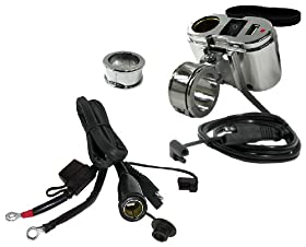 EKLIPES EK1-110 Chrome Cobra Ultimate Motorcycle USB Charging System