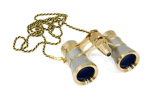 Levenhuk Broadway 325F Opera Glasses (Silver, With Led Light And Chain), 3X, With Accessory Kit