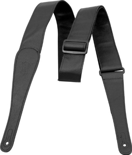 """Brown Levy/'s MSS3-BRN 2.5/"""" Suede Guitar Strap piping"""