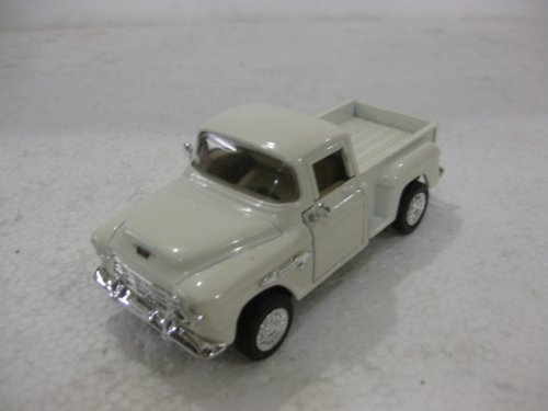 1955 Chevy 3100 Stepside In White Diecast 1:36 Scale By ATL