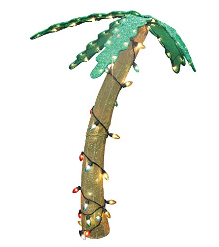 42-Pre-Lit-Soft-Tinsel-Tropical-Palm-Tree-Christmas-Yard-Art-Decoration-Clear-Lights