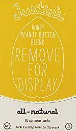 Justin\'s Nut Butter: Honey Peanut Butter Squeeze Packs, 1.15 oz (20 pack)