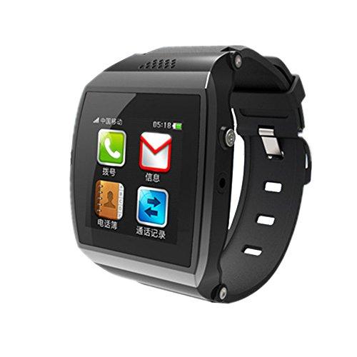CIYOYO 「 M7 スマートウォッチ」 SIMフリー 着信ブレス スマートウォッチ Bluetooth搭載 iPhone  Androidスマートフォン対応 (ブラック)
