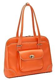 McKlein Women\'s Avon Leather Briefcase,Orange,17\