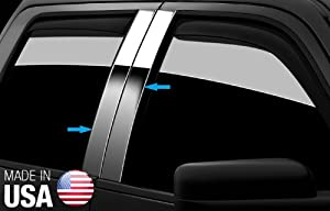 Made In USA! Fit 2012-2013 Crv 4Pc Stainless Steel Door Pillar Posts Chrome Cover Window Trim -4pc