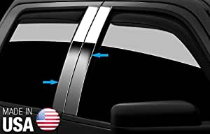 Made in USA! Fit 1989-1998 Chevy/GMC Pickup Stainless Steel Door Pillar Posts Chrome Cover Window Trim-4pc
