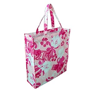 HAWAIIAN REUSABLE ECO-FRIENDLY GREEN SHOPPING BAG TOTE - SMALL
