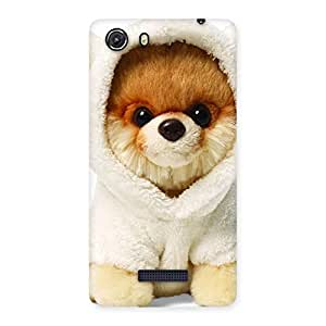 Cute Boo Dog Multicolor Back Case Cover for Micromax Unite 3