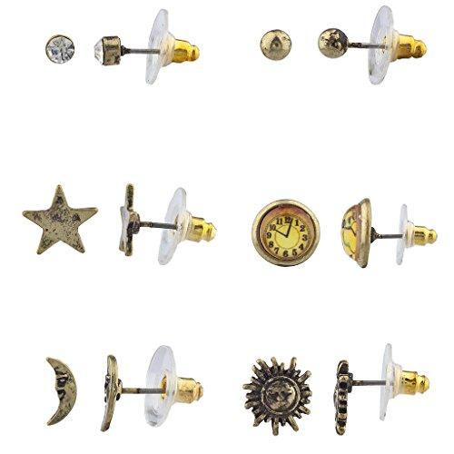 lux-zubehor-boho-burnish-gold-celestial-steampunk-multi-ohrring-set-6-stuck