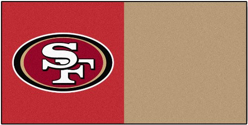 FANMATS NFL San Francisco 49ers Nylon Face Team Carpet Tiles at Amazon.com