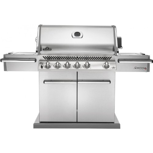 Napoleon PRO600RSIBNSS Prestige Gas Grill with Rear and Side Infrared Burner Stainless Steel Doors and Lid