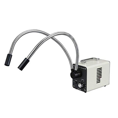 20W Led Fiber Optic Dual Gooseneck Microscope Illuminator
