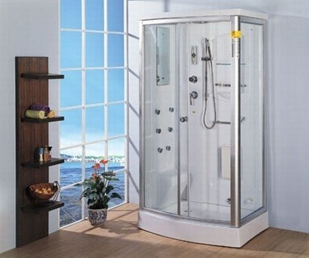 LineaAqua Isabella 44 x 32 Steam Shower Enclosure Rectang 6 Body Sprays, Hand Shower, Foot Massage, Acrylic Seat, RIGHT CORNER INSTALL ONLY!