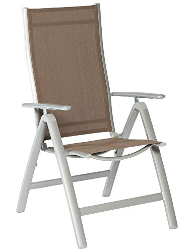 Klappsessel CARRARA Alu + Textilene, 5-fach verstellbar taupefarben, extra stabiles Gestel online bestellen