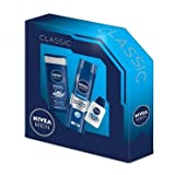 Nivea For Men Classic ORIGINAL 3 Piece Gift Set (Original Care Shower Gel 250ml, Originals Moisturising Shaving Gel 200ml & Sensitive Post Shave Balm 30ml)