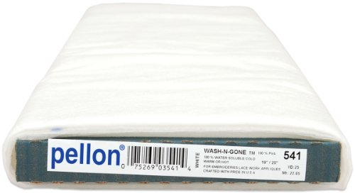 Pellon Wash-N-Gone Stabilizer, 19-Inch by 25-Yard, White