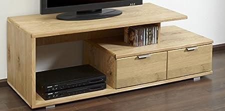 4.4.3.2582: modernes TV-Lowboard - Schubladen mit Softclose-System - Wildeiche - Artikel wird aufgebaut geliefert - TV-Schrank