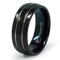 8mm Black Titanium Ring (Sizes 8-13)