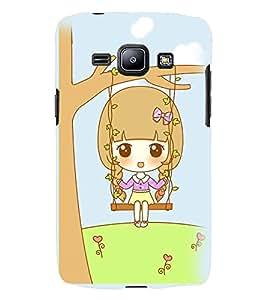 Printvisa Animated Sweet Girl On A Hammock Back Case Cover for Samsung Galaxy J2::Samsung Galaxy J2 J200F