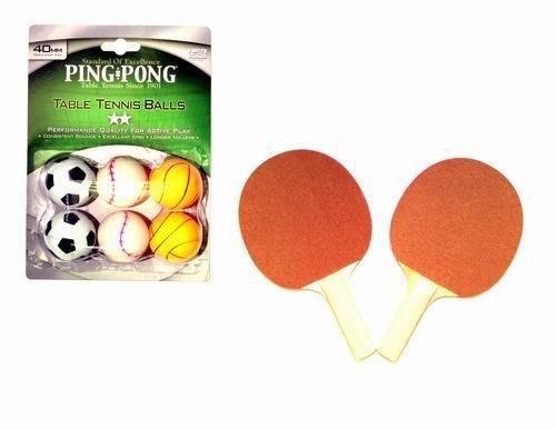 Table Tennis Ping Pong Paddle and Ball Set - (4 Paddles & 12 Balls)