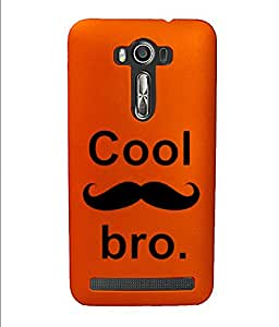 KolorEdge Back Cover For Asus Zenfone 2 Laser - Orange (4362-Ke15159Zen2LaserOrange3D)