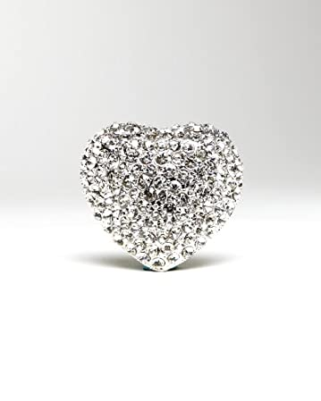 bebe Pave Heart Ring
